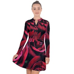 Red Roses Long Sleeve Panel Dress by bloomingvinedesign