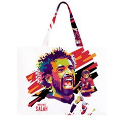 Mo Salah The Egyptian King Zipper Large Tote Bag by 2809604