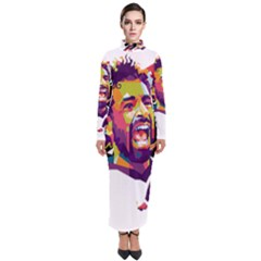 Mo Salah The Egyptian King Turtleneck Maxi Dress