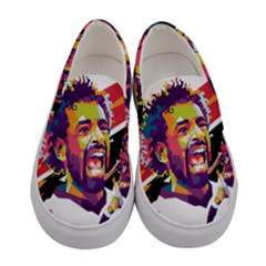 Mo Salah The Egyptian King Women s Canvas Slip Ons