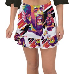 Mo Salah The Egyptian King Fishtail Mini Chiffon Skirt