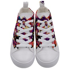 Mo Salah The Egyptian King Kid s Mid Top Canvas Sneakers