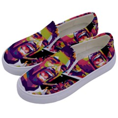 Mo Salah The Egyptian King Kids  Canvas Slip Ons by 2809604