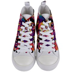 Mo Salah The Egyptian King Women s Mid Top Canvas Sneakers