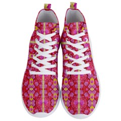 Roses And Butterflies On Ribbons As A Gift Of Love Men s Lightweight High Top Sneakers