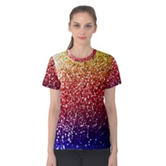 Rainbow Glitter Graphic Women s Cotton Tee