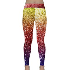 Rainbow Glitter Graphic Classic Yoga Leggings