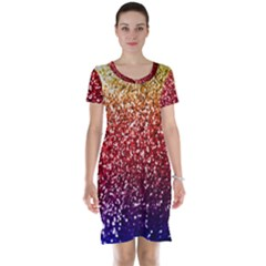 Rainbow Glitter Graphic Short Sleeve Nightdress