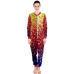 Rainbow Glitter Graphic Onepiece Jumpsuit (ladies)