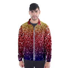 Rainbow Glitter Graphic Windbreaker (men)