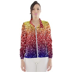 Rainbow Glitter Graphic Windbreaker (women)