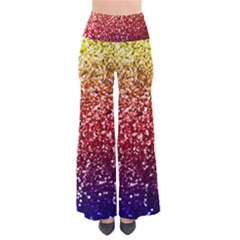 Rainbow Glitter Graphic So Vintage Palazzo Pants