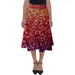 Rainbow Glitter Graphic Perfect Length Midi Skirt