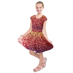 Rainbow Glitter Graphic Kids  Short Sleeve Dress