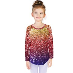 Rainbow Glitter Graphic Kids  Long Sleeve Tee