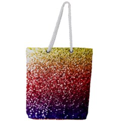 Rainbow Glitter Graphic Full Print Rope Handle Tote (large)