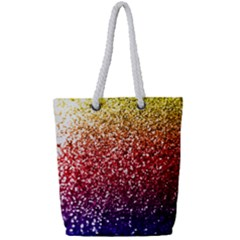 Rainbow Glitter Graphic Full Print Rope Handle Tote (small)