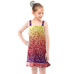Rainbow Glitter Graphic Kids  Overall Dress