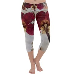 Holy Land Flowers 1 Capri Yoga Leggings by DeneWestUK
