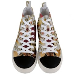 Holy Land Flowers 5 Men s Mid Top Canvas Sneakers