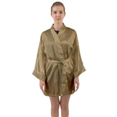 Burlap Coffee Sack Grunge Knit Look Long Sleeve Kimono Robe by dressshop