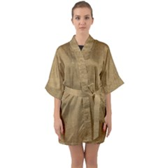 Burlap Coffee Sack Grunge Knit Look Quarter Sleeve Kimono Robe by dressshop