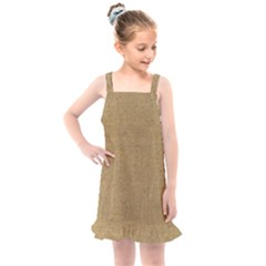 Burlap Coffee Sack Grunge Knit Look Kids  Overall Dress by dressshop