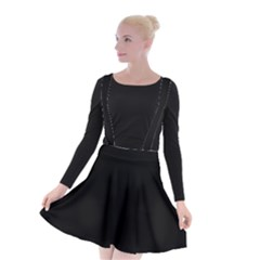Define Black Suspender Skater Skirt
