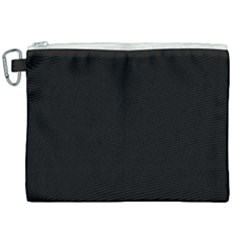 Define Black Canvas Cosmetic Bag (xxl) by TRENDYcouture