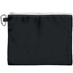 Define Black Canvas Cosmetic Bag (xxxl) by TRENDYcouture