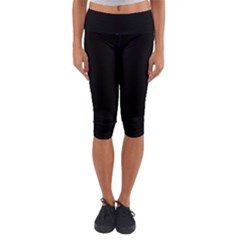 Define Black Lightweight Velour Capri Yoga Leggings