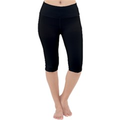 Define Black Lightweight Velour Cropped Yoga Leggings