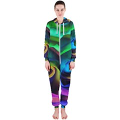 Rainbow Rose 17 Hooded Jumpsuit (ladies)