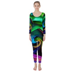 Rainbow Rose 17 Long Sleeve Catsuit