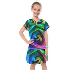 Rainbow Rose 17 Kids  Drop Waist Dress