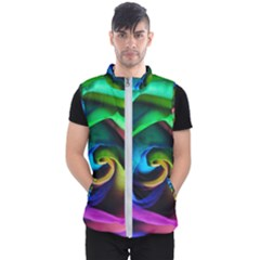 Rainbow Rose 17 Men s Puffer Vest