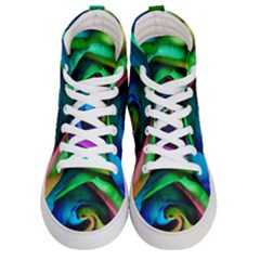 Rainbow Rose 17 Men s Hi Top Skate Sneakers