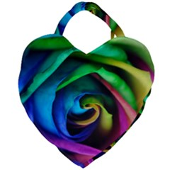 Rainbow Rose 17 Giant Heart Shaped Tote