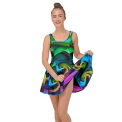 Rainbow Rose 17 Inside Out Casual Dress