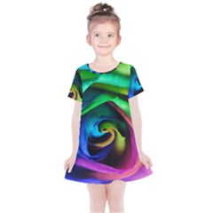 Rainbow Rose 17 Kids  Simple Cotton Dress