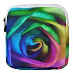 Rainbow Rose 17 Mini Square Pouch