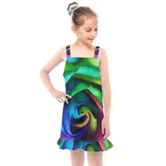 Rainbow Rose 17 Kids  Overall Dress
