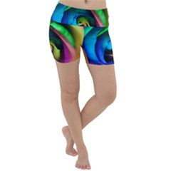 Rainbow Rose 17 Lightweight Velour Yoga Shorts
