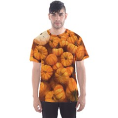 Pumpkins Tiny Gourds Pile Men s Sports Mesh Tee