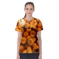 Pumpkins Tiny Gourds Pile Women s Sport Mesh Tee
