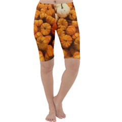Pumpkins Tiny Gourds Pile Cropped Leggings