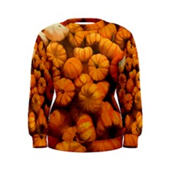 Pumpkins Tiny Gourds Pile Women s Sweatshirt