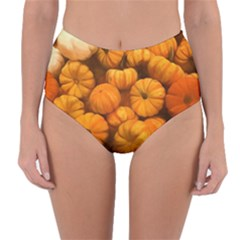 Pumpkins Tiny Gourds Pile Reversible High Waist Bikini Bottoms