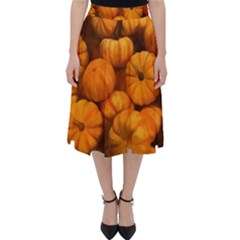 Pumpkins Tiny Gourds Pile Classic Midi Skirt