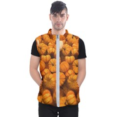 Pumpkins Tiny Gourds Pile Men s Puffer Vest
